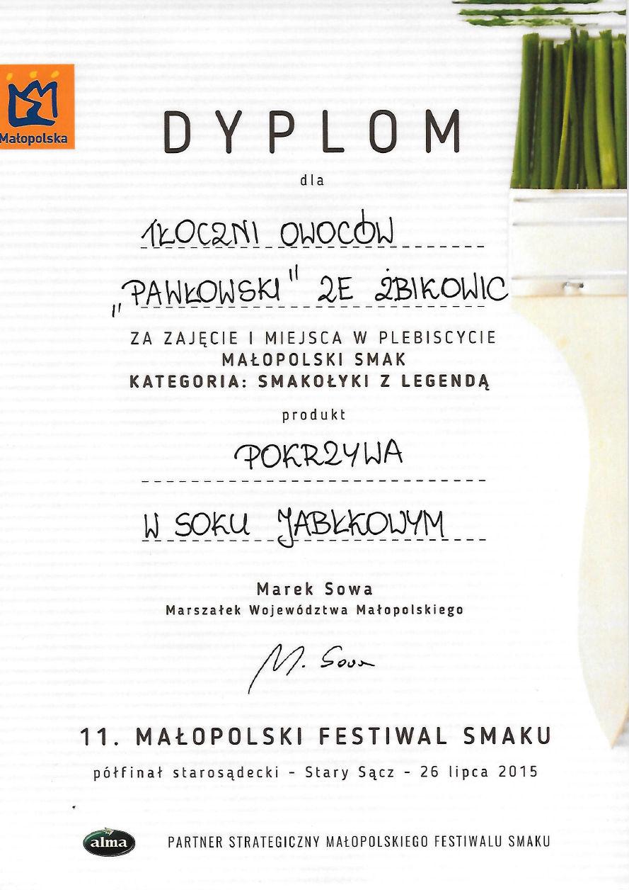 11 Małopolski Festiwal Smaku Nagroda
