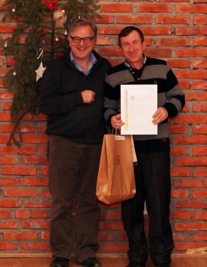 Tłocznia Owoców Pawłowski - Certyfikat Fundacji Partnerstwo dla Środowiska